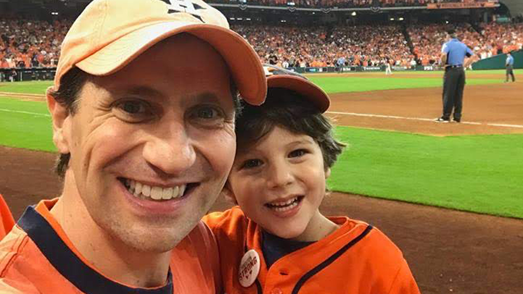 Justin Nelson at Astros Game