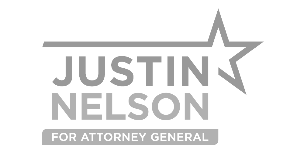 Justin Nelson for Attorney General - Subtle Logo