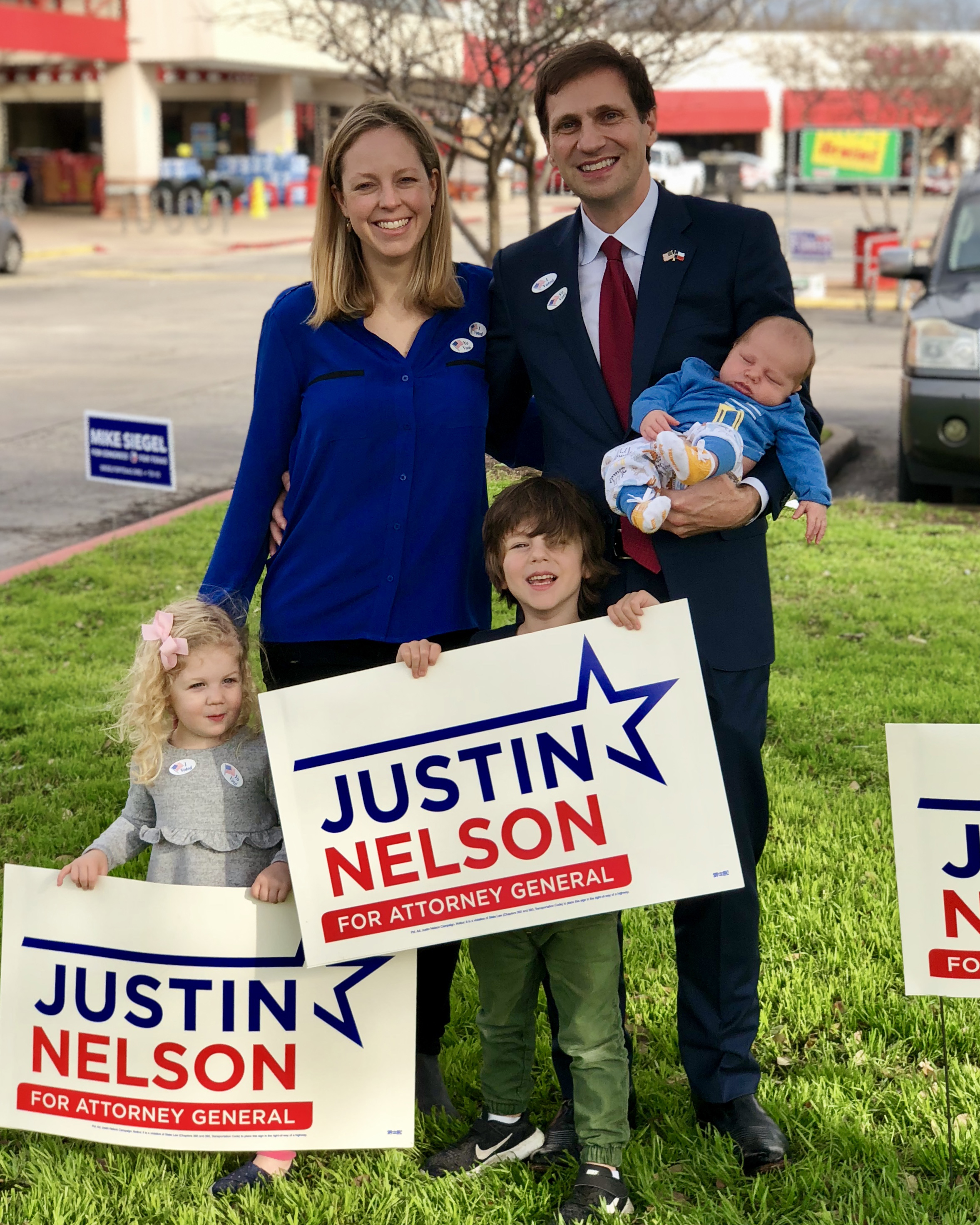 Justin Nelson and Family Voting